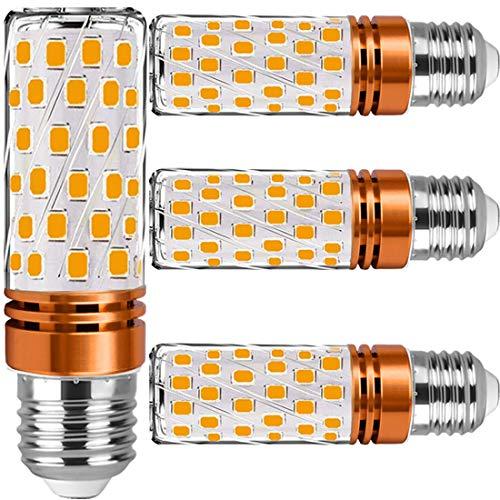 Lampadine LED E27 Luce Calda 12W - Lampadina E27 LED Caldo di mais equivalenti 100W incandescenza,Bianca Led 3000K 1450lm, Nessun Sfarfallio Edison mais Lampadina non dimmerabile 4 Pezzi