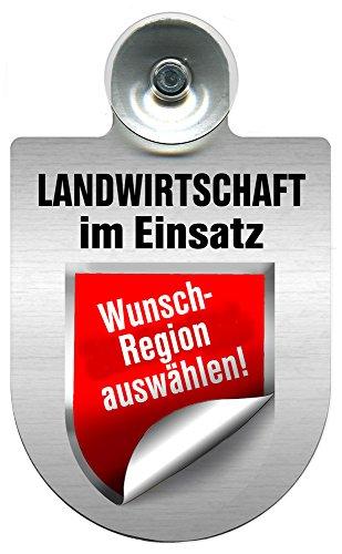 Einsatzschild für Windschutzscheibe incl. Saugnapf - Landwirtschaft im Einsatz - Wappen nach Wahl - 309460 Farbe Region Schleswig-Holstein