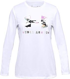 بلوزة للفتيات بشعار كبير للعلامة التجارية من اندر ارمور