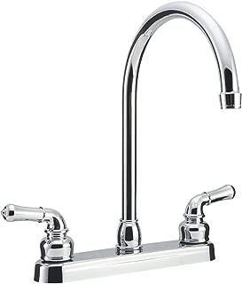 Dura Faucet DF-PK330HC-CP RV J-Spout Kitchen Faucet (Chrome)