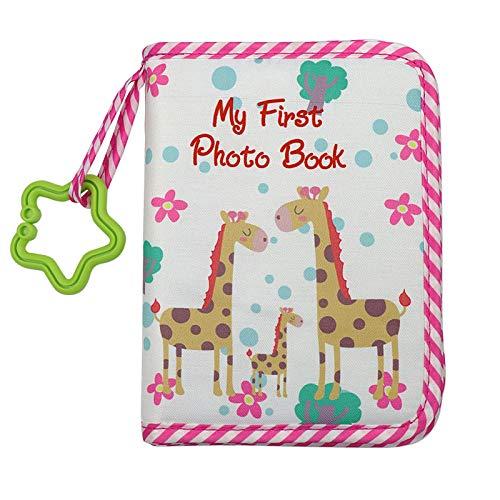 YUYUGO Colth - Álbum de fotos para bebé con espejo seguro, álbum de bebé mi primera familia, libro de fotos suave para recién nacidos y niños pequeños