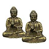 T Tooyful - 2 figuras de Buda para decorar el jardín, decoración