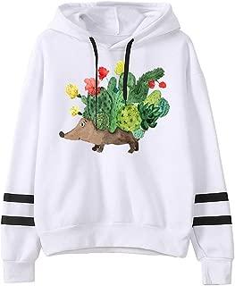 TIFENNY Halloween Hooded for Women Print Long Sleeve Casual Hoodie Pullover Top Blouse Sweatshirt
