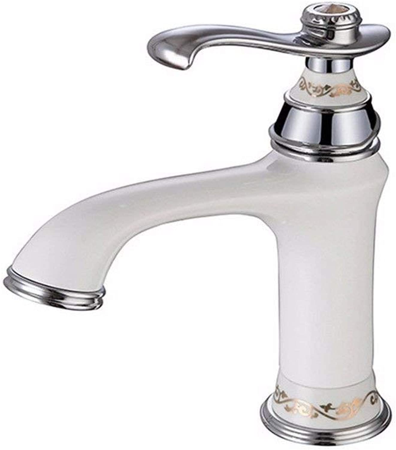 WMING HOME Sink Mixer Tap Bathroom Kitchen Basin Tap Leakproof Save Water Waterfall Water Outlet Cold Water Ceramic Valve Three Hole Double Handle Bathroom