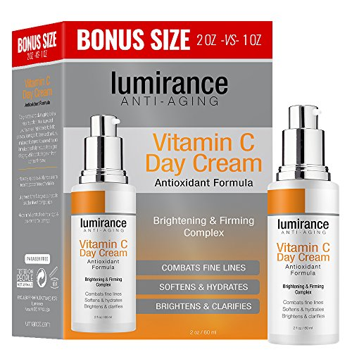 Vitamin C Day Cream, Brightening and Firming, Combats Fine Lines, Softens & Hydrates, Brightens and Clarifies Face Skin Treatment Cream for All Skin Types, Bonus Size 2oz / 60ml