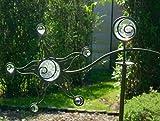 Windspiel Wippe Sonne mit 8 Glas Kugeln Gartenstecker Gartenfigur Metall Garten Deko