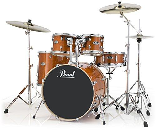 Pearl Export Lacquer EXL705/C248 - Juego de tambores de fusión de 5 piezas con hardware, negro humo, Nueva fusión, Honey Amber, inch