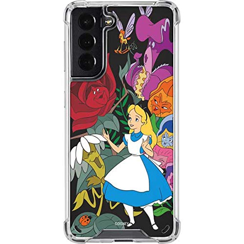 Skinit Clear Phone Case Compatible with Galaxy S21 5G - Officially Licensed Disney Alice in Wonderland Design