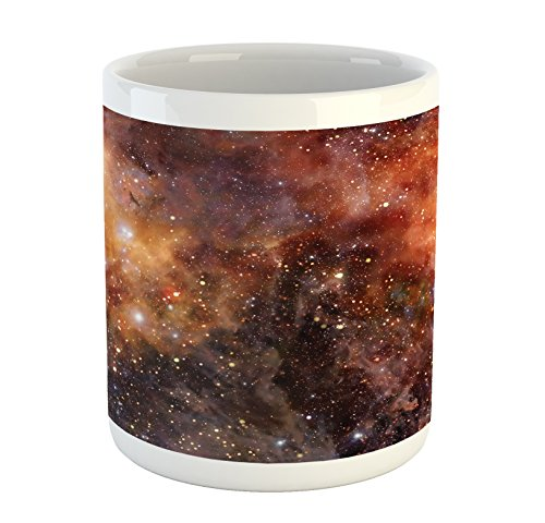 Ambesonne Outer Space Mug, Nebula Gas Cloud in Deep Outer Space Galaxy...