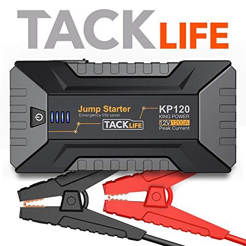 TACKLIFE 1200A Booster Batterie Voiture - 12V Démarrage de Voiture (Jusqu'à 8L Essence, 6L Diesel Moteurs) UL Certifié