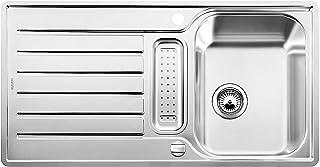 BLANCO LANTOS 5 S-IF - Küchenspüle für 50 cm breite Unterschränke - Mit IF-Flachrand und Ablauffernbedienung - Edelstahl-Bürstfinish - 517281