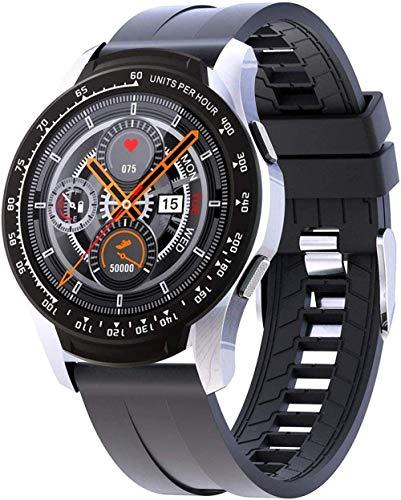 Gymqian Smart Watch Sport Smart Watch Heart Rate Monitor Fitness Wrist Watch Pedometer Waterproof Tracker Watch with Blood Pressure-Black Best Gift/Silver Black