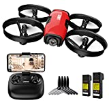 SANROCK U61W Mini Drone con Telecamera 720P HD FPV con 2 Batterie, Protezione dell'elica, Droni...