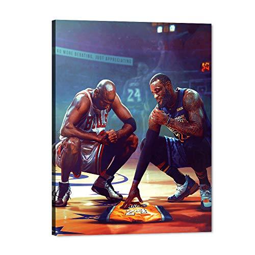 Yatsen Bridge NBA Basketball Player Kobe Bryant Wall Art Print Yellow 24 Sports Jersey Poster Artwork Painting for Living Room-18W x 24H inch