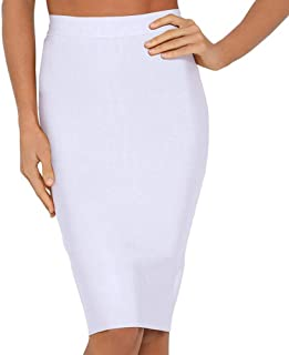 Women's High Waist Knee Length Bandage Pencil Skirt