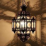 Marrakesch L1360 Moula - Lámpara de techo (metal y cristal, 26 cm de altura, 60 cm de altura), diseño oriental