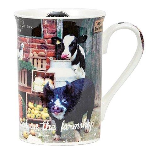 Raid on the Farm Shop animaux de la ferme en porcelaine anglaise Photographic Mug dans une boîte cadeau