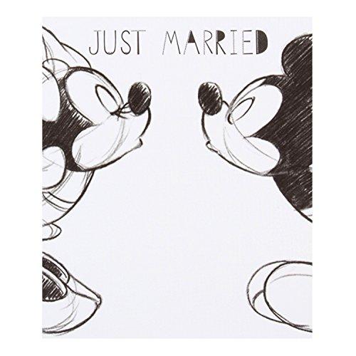 Hallmark Disney Karte, Design Micky und Minnie (in englischer Sprache) Mickey & Minnie - Hochzeit weiß