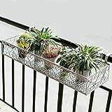 LQQGXL Iron flower balcony balcony wall hanging flower pot rack Flower stand ( Color : B , Size : 402512 )