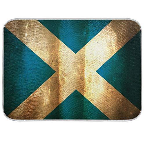 Esterilla para secar platos Microfibra Encimeras de cocina Protector de almohadilla seca 16 x 18 pulgadas Escocia