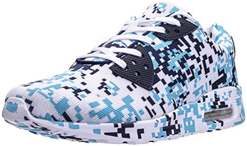 WHITIN Men's Camo Tennis Shoes Walking Casual Fashion Retro Lifestyle Sneakers Fitness Gym Workout Comfortable Lightweight Breathable Male Camouflage Blue Size 10