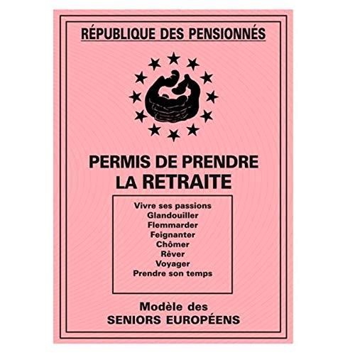 Les Trésors De Lily [H6982 - Carte spéciale 'Permis de Prendre la Retraite' - 20.5x14.5 cm