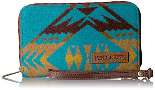 Medium Patricia Nash Tooled Leather St Croce Clutch Wristlet Smartphone Wallet Turquoise