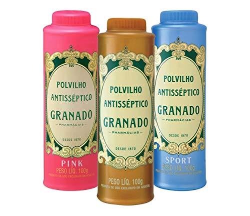Packung Talco Polvilho Antisséptico Granado – 3 x 100 g