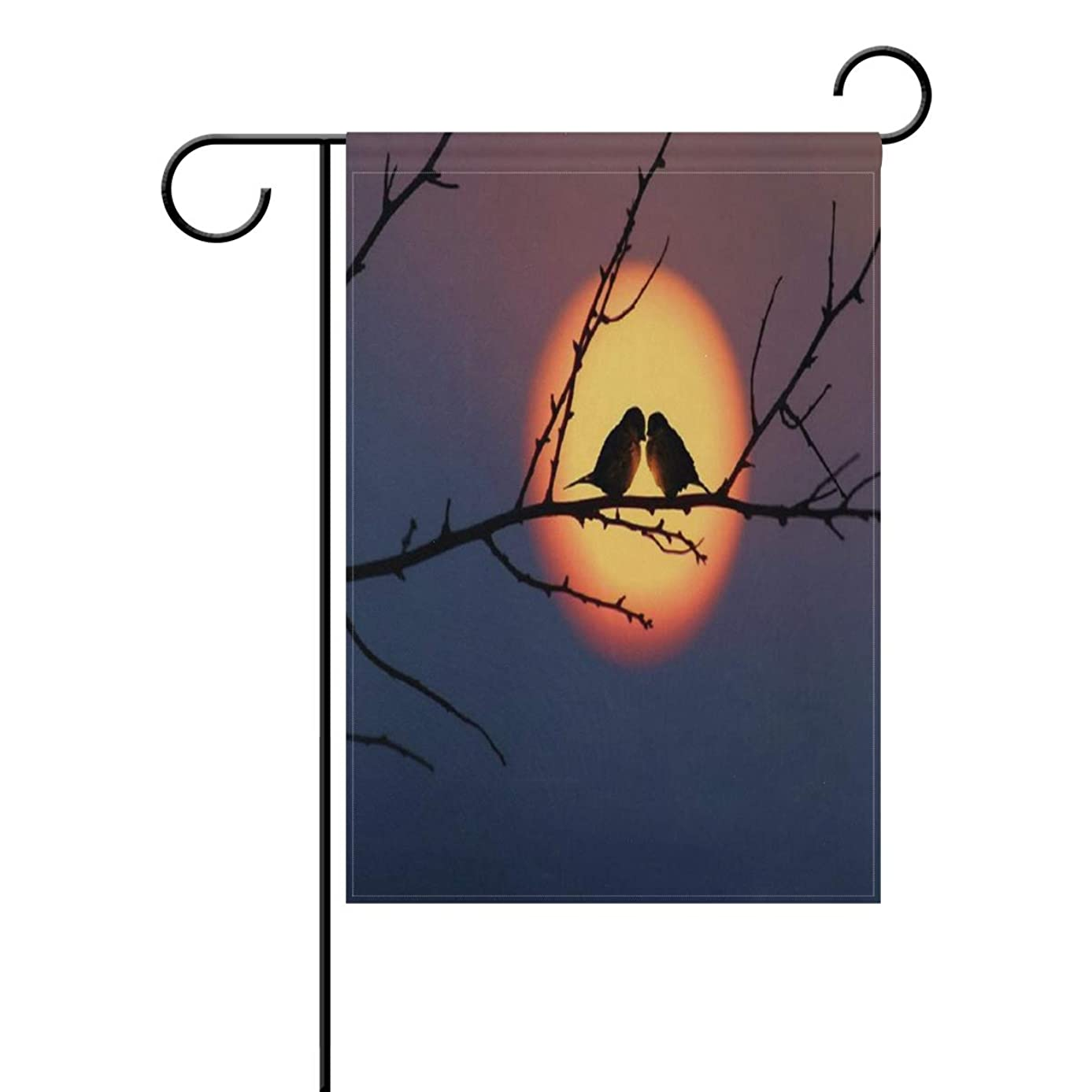 Garden Flag Loving Bird Couples Double Sided Festival Holiday Decoration for Outdoor Family Party 12 x 18 Inch