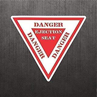 Danger Ejection Seat Funny Sticker Vinyl Decal Warning Label Sign For Truck Car SUV Motorcycle