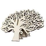 Billty Weihnachtsbaum-Verzierungen aus Holz, hohl, Familienbaum-Form, zum Basteln, für Bastelarbeiten, Weihnachtsschmuck, Hochzeit, 10 Stück -