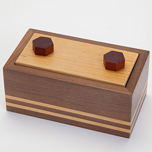 Bits and Pieces - Secret Chamber Wooden Puzzle Box - Wooden Brain Teaser Box - Gift Box