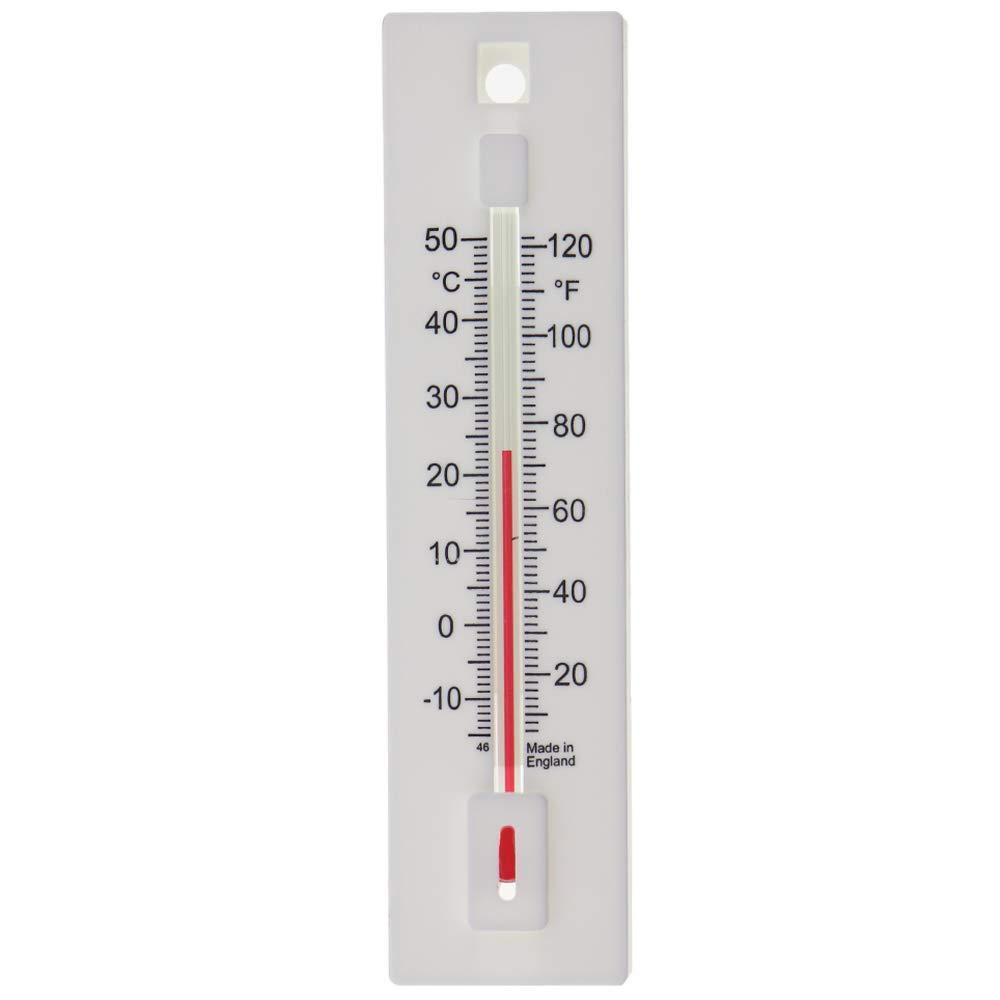 Termómetro de pared para uso interior y exterior. Úsalo en el jardín, invernadero, hogar, oficina o habitación para monitorear la temperatura actual: Amazon.es: Jardín