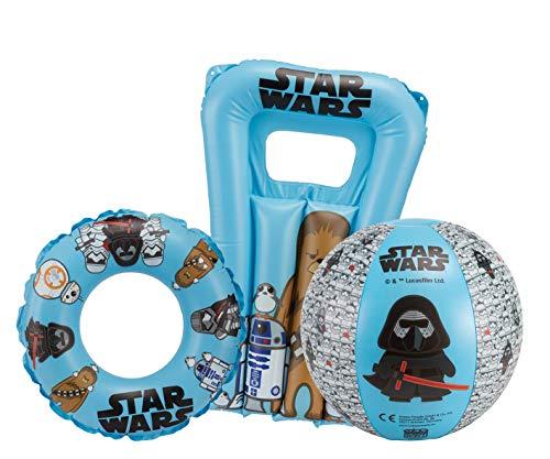 Star Wars Strandset bestehend aus 16391 Wasserball ca. 40 cm 16392 Schwimmring ca. 50 cm 16393