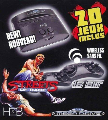 Console Megadrive + 20 jeux + manettes Sans fil - édition Streets of Rage