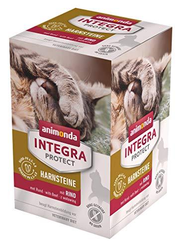 animonda Integra Protect urestenen, speciaal kattenvoer, ter voorkoming van een urineinfect, verschillende soorten en maten, Natte voering, 6 x 100 g
