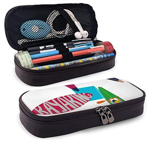 Estuche con compartimentos: puedes almacenar, organizar y transportar lápices, bolígrafos, marcadores y mucho más. El bolsillo interior con cremallera es lo suficientemente amplio para objetos pequeños como sacapuntas, blocs de notas pequeñas, borrad...