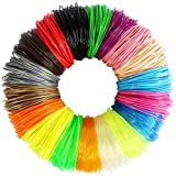 3D Pen Filament, 1.75mm PLA Filament Refills, 18 Colors Total 180 Feet, Not-Toxic, No Bubbles, No Smell, Fast Forming, Eco Friendly, Work with Mika3d Tecboss (Does Not Fit 3Doodler)