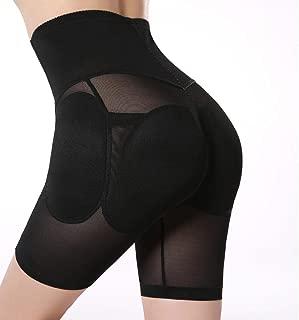 Plus Size S XXL Black Padded Underwear Women's Hip Enhancer High Waisted Tummy Control Butt Lifter Panties Shapewear