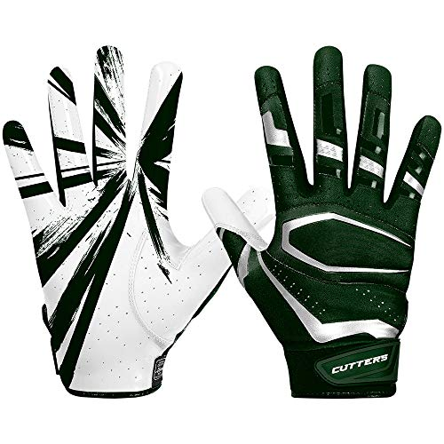 Cutters American Football Receiver Gloves S452 Rev Pro 3.0 Design 2018 - dunkelgrün Gr. XL