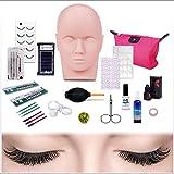 [aplicación amplia y de alta calidad] Esta cabeza de maniquí de entrenamiento de maquillaje tiene una textura realista superficie lisa. Adecuado para las técnicas de masaje facial o ejercicios de maquillaje .. [Todo en un traje] Juego completo de cab...