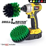 Drillbrush Ultra Drill Stiff Powered Kit de nettoyage Brosse pour Heavy Duty utilisation moyen-vert