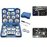 23 pezzi Chiave per filtri olio in alluminio, custodia, tappi filtro olio, cambio olio, attrezzo per veicoli