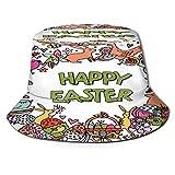 RUEMAT Sombrero Pescador Unisex,Vector de Dibujos Animados Dibujados a Mano Doodle Feliz,Plegable Sombrero de Pesca Aire Libre Sombrero Bucket Hat para Excursionismo Cámping De Viaje Pescar