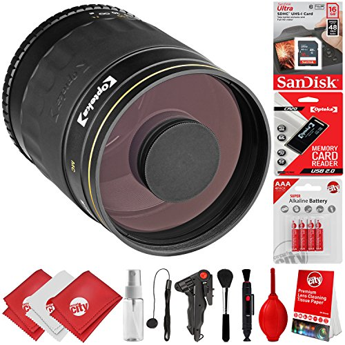 Opteka 500mm f/8 Manual Focus High Definition Telephoto Mirror Wild Life Lens for Canon EOS 80D, 77D, 70D, 60D, 7D, 6D, 5D, 7D Mark II, T7i, T6s, T6i, T6, T5i, T5, SL1 & SL2 Digital SLR Cameras -  Circuit City, circuitcity113891