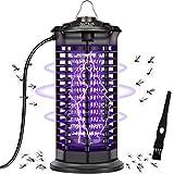 AUTSCA Lámpara Antimosquitos Eléctrico UV 11W, LED Mosquito Lámpara Trampa, 1000V Potencia de Alto Voltaje, Matar Mosquitos, Moscas, Polillas, para hogar (negro2)