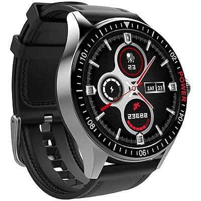 St. Leonhard Smart Uhr: Smartwatch mit Always-On-Display, Bluetooth, App, Herzfrequenz, IP68 (Handy Uhr)