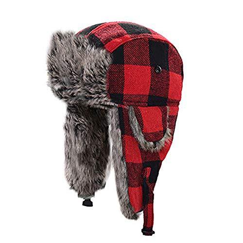 HOMFUL Unisex Trapper Trooper Hat Hunting Hat for Men and Women Ushanka...