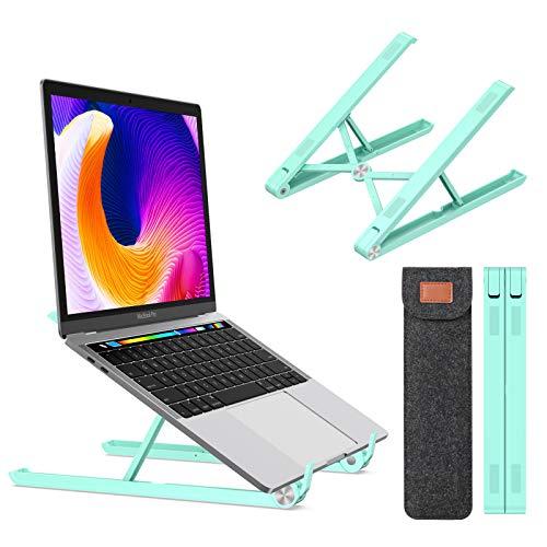 Tounee Laptop Stander ergonomischer Notebook Standerhalter fur den Schreibtisch vollstandig Faltbarer Laptop Riser kompatibel mit MacBook Dell HP Lenovo alle von 10 bis 173 Zoll schwarz