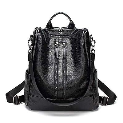 Gerosse Fashion Leather Backpack Casual Purse for Women,Designer PU Shoulder Bag Handbags Travel Purse (Brown)